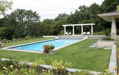 formal pool landscaping