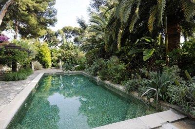 pool greenery