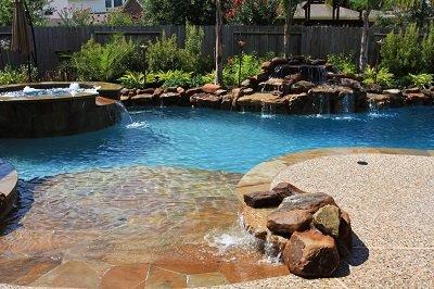 pool rocks