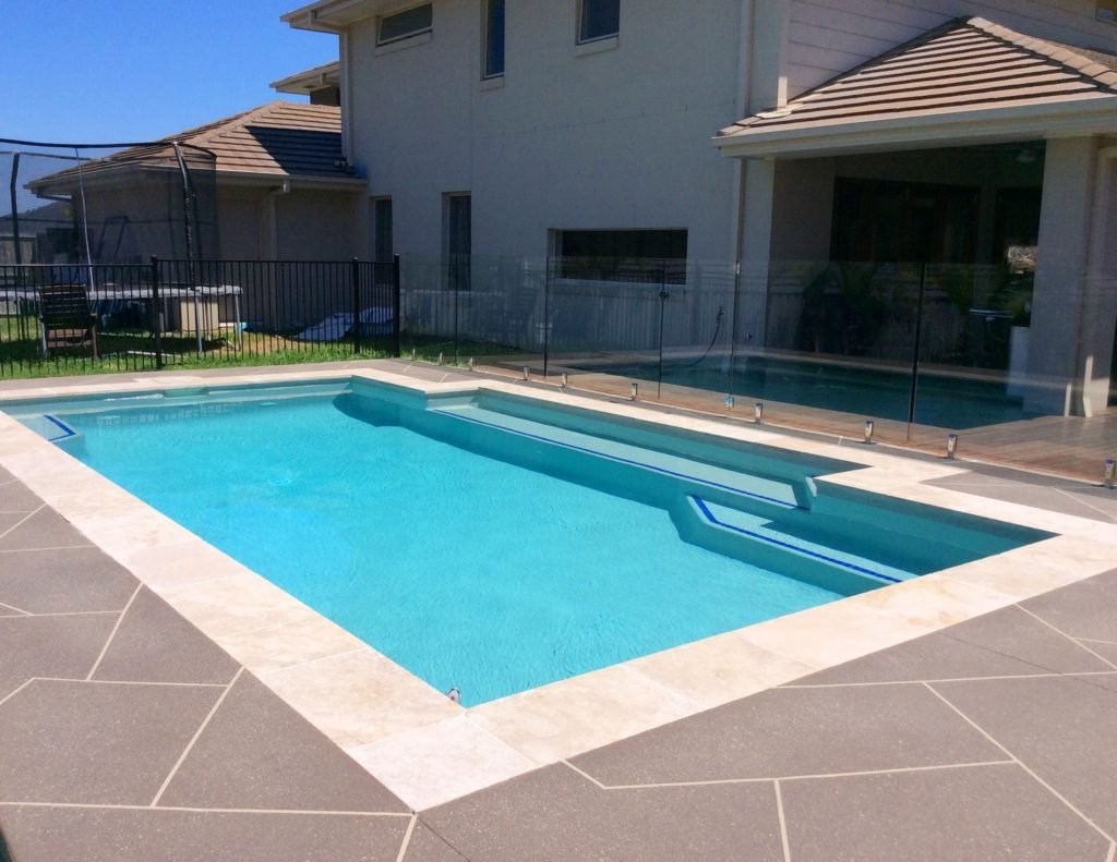 pebble feature concrete pool