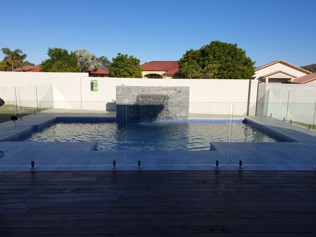 Afternoon shaded swimming pool in Arundel on the Gold Coast - Cozy Pools